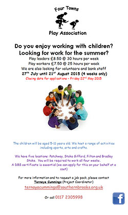 Summer Play Scheme Vacancies
