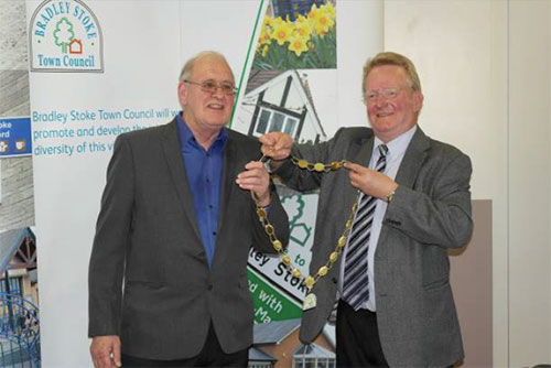Bradley Stoke Town Council's Mayor, the Longest Serving Councillor, Hands Over to New Mayor