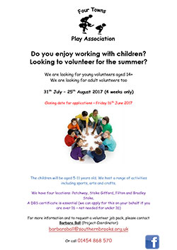 Summer Play Scheme Volunteers