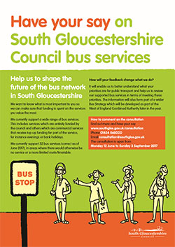 Have your say on South Gloucestershire Council bus services