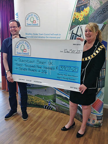Outgoing Mayor's Charity Cheque presentations