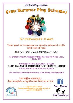 Free Summer Play Scheme