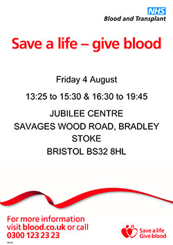 Save a life – give blood